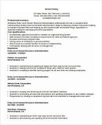 Sample Human Resource Resumes Sample Human Resource Resume 9 Examples In Word Pdf
