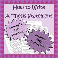 Writing A Thesis Statement How To Write A Basic Thesis Statement For Middle School Early