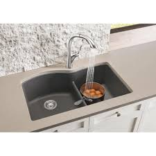 Shop Blanco Diamond Undermount Cinder Granite Kitchen Sink  Free Shipping  Today Overstockcom 14458239 Blanco Cinder Sink77