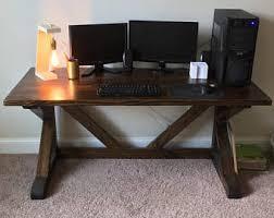 rustic wood office desk. rustic wooden desk wood farmhouse office cantilevered dark