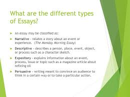essay writing a quick overview english language arts ppt  3 what are the different