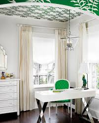 Image cool home office Office Decorating View In Gallery Splash Of Green Enlivens The Cool Home Office In White design 1800lighting Decoist 20 Ways To Decorate Home Office In White