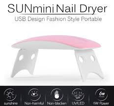 New Hot SUNmini USB Nail Lamp <b>6W LED</b> Light <b>Portable Mini LED</b> ...