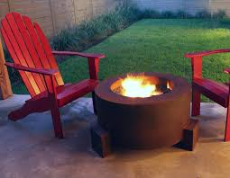 round 30 cor ten steel fire pit free fire pits small small outdoor gas fire