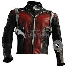 scott lang ant man leather costume leather jacket coat ant man cosplay jacket