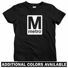 Dc Youth Size Chart Washington Dc Metro Kids T Shirt Baby Toddler Youth Tee Rr Logo Subway Train Ebay