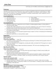 Sample Resume Promotion Entry Level Law Enforcement Resume Law Enforcement Professional 15