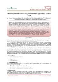 Ladder Frame Chassis Design Calculations Modeling And Structural Analysis Of Ladder Type Heavy