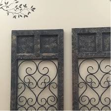 Easy and ready to hang by hardware in back One Allium Way Panel Dark Brown Metal Wall Decor Reviews Wayfair Metal Wall Decor Bedroom Shutter Wall Decor Metal Wall Art Panels