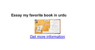 essay my favorite book in urdu google docs