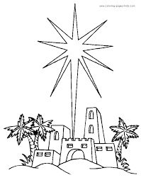 Small Picture Star of Bethlehem Religious Christmas coloring page religious