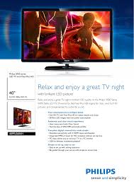 Cebeo Light 40pfl5606h 12 Philips Led Tv With Pixel Plus Hd Cebeo E