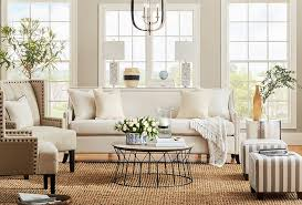 coastal style living room with jute area rug