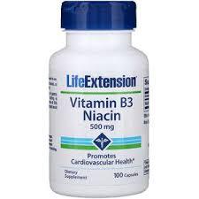Life Extension, Vitamin B3 Niacin, 500 mg, 100 Capsules | Life ...