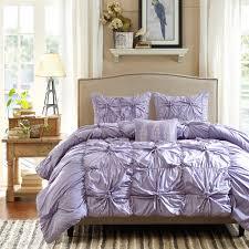comforter ruffle details purple ruffles bedding