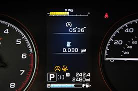 Eng Sys Light Mitsubishi Subarus New Feature Tracks Fuel Savings From Engine Stop Start