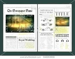 Wedding Invitation Newspaper Template Wedding Day News Front Page Free Newspaper Templates Print
