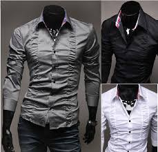 Shirt Folds Reference 2019 Mc035 Mens Shirts Palace Chest Folds Fit Stylish Dress Long