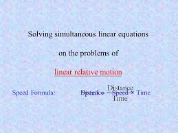 solving simultaneous linear equations on the problems of