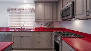 Best idea of Kitchen countertop natural quartz stone red color