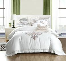 satin duvet cover cotton bed linen high thread count satin bedding sets bedspreads white duvet cover set embroidery bedclothes bedding sets teens
