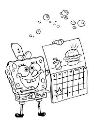 Kleurplaten Paradijs Kleurplaat Spongebob Squarepants