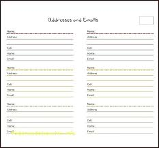 Address Book Template Free Excel Address Book Template Cool Phone Interface For