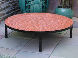 outstanding great outdoor side table mosaic outdoor round stone top coffee pertaining to round outdoor coffee table popular