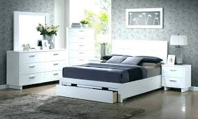 Glamorous Modern White Bedroom Sets King Set Lacquer Queen Large ...