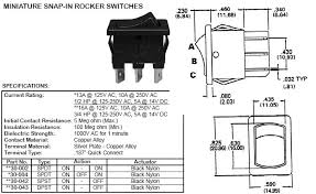 switches rockers 22200 22 dpst on off mini rocker switch