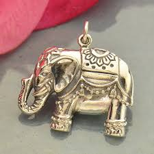 a1828 sv chrm large sterling silver indian elephant pendant