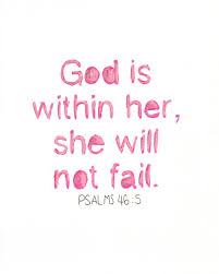 Christian Quotes For Girls Best of God Is Within Her Christian Wall Art Hand Lettered PRINT Of
