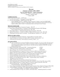 Chic Resume Construction Supervisor On Construction Manager Cover