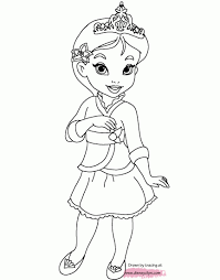 Coloring Pages Baby Princessing Pages Little Princesses Printable