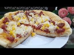 Anda juga bisa memodifikasi resep ini menggunakan roti prancis 1 sendok makan minyak goreng. Pizza Teflon Empuk Pizza On Pan Recipe Youtube