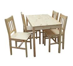 sentinel westwood quality solid wooden dining table and 4 chairs set kitchen ds02 pine
