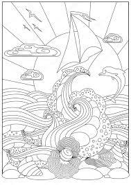Immagini Disegno Tramonto Sul Mare Da Colorare Tramonto Sul Mare