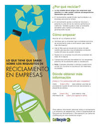 Sample Of Flyer English And Spanish Language Commercial Recycling Flyer