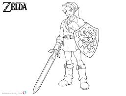 Legend Of Zelda Link Coloring Pages Coloring Legend Of Link Coloring