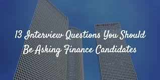 Police Interview Questions And Answers 13 Interview Questions You Should Be Asking Finance