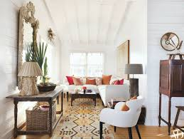 the custom made sectional sofa antique swedish mirror and table and vintage kilim