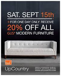 one day gus furniture at upcountry