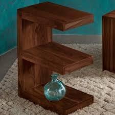 Sheesham Wood E Shaped End Table