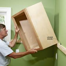 Making A Wall Cabinet Install Cabinets Like A Pro The Family Handyman Kitchen Wall