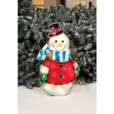 fluffy snowman outdoor christmas decoration holiday time christmas decor quot prismatic snowman with blue scarf sc