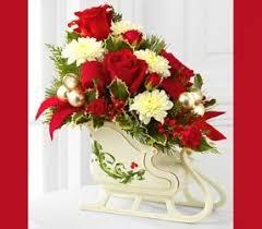 Christmas dried flower arrangements