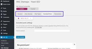 configuring yoast seo xml sitemaps