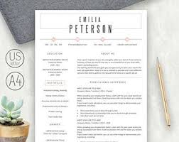 Modern Resume Template for MS Word Professional CV Design   Etsy in 2020    Resume template, Cv template professional, Resume template word