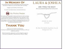 free wedding program template church programs sle