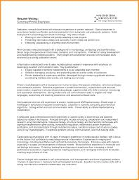 Profile In Resume Example For Student Remarkable Profile Resume Examples For Students With Project 8